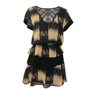 Line & Dot layered ruffle lace mini dress